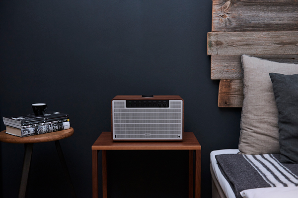 SuperTone in Walnut and Silver on an S1 Audio Table